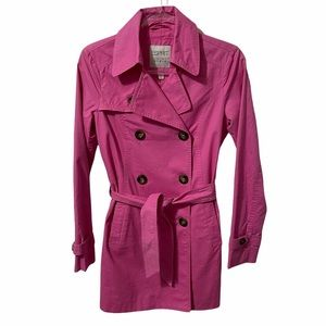 ❤️🔥4 For $25❤️🔥 ESPRIT Vintage Hot Pink Women's Trench Coat Size 4